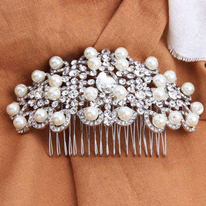 Large Wedding Headpiece Bridal Vine Combs