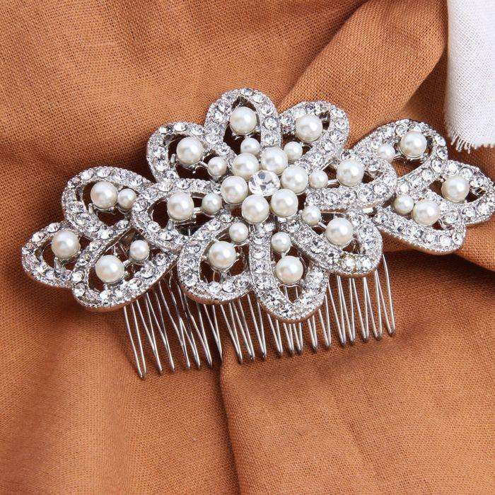 Vintage Large Bridal Decorative Hair Comb