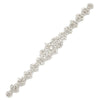 "Crystal Bridal Belt Silver Wedding Sash Bridesmaid Belt - ""Julia"""