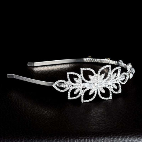 Bridal Flower Rhinestones Wedding Headband Tiara
