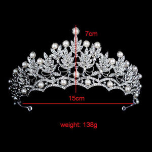 Crystal Wedding Bridal Tiara Crown Prom Headband Silver