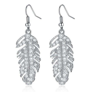 Women Fashion Feather Earrings Bridesmaid Gift