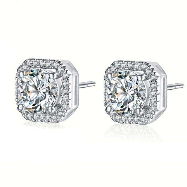 Cubic Zirconia Earrings Studs for Bride
