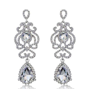 Bridal Statement Women Earrings Teardrop Art Deco