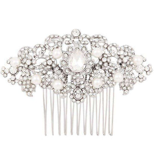 Wedding Hair Accessories Vintage Hair Comb Pearl Art Deco