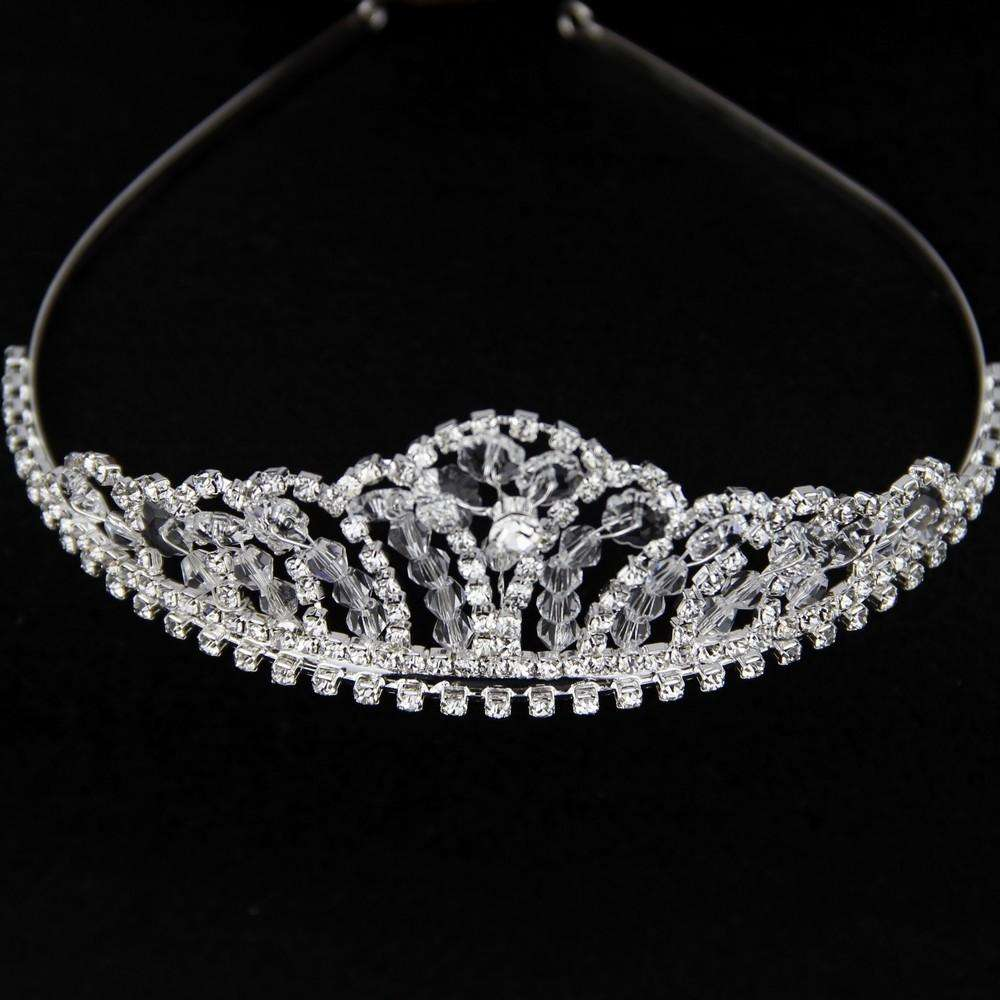 Handmade Art Deco Bridal Tiara Headbands Clear Crystal