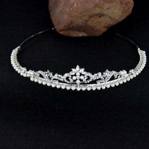 Crystal Bridal Headband Pearl Rhinestone Wedding Hairpiece