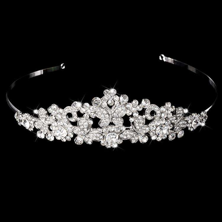 Butterfly Bridal Hair Accessories Rhinestone Headband Wedding