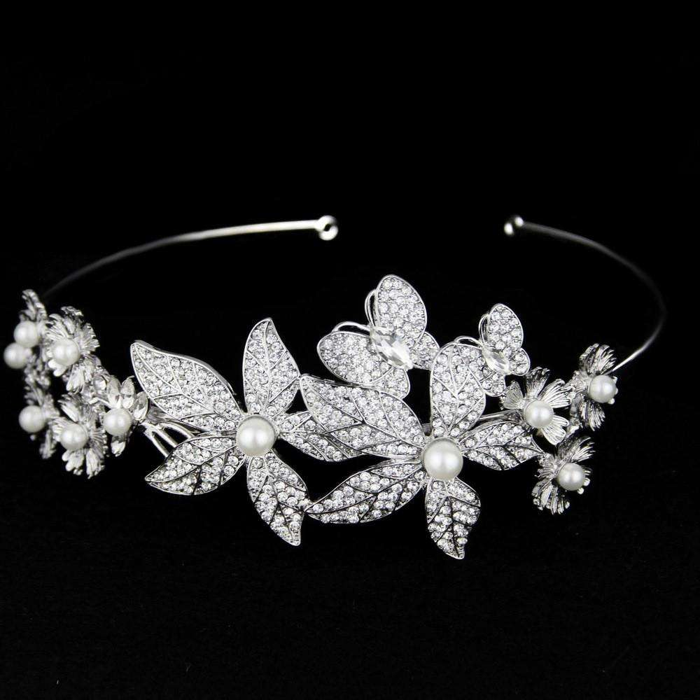 Flower Wedding Hair Statement Bridal Headband Vintage