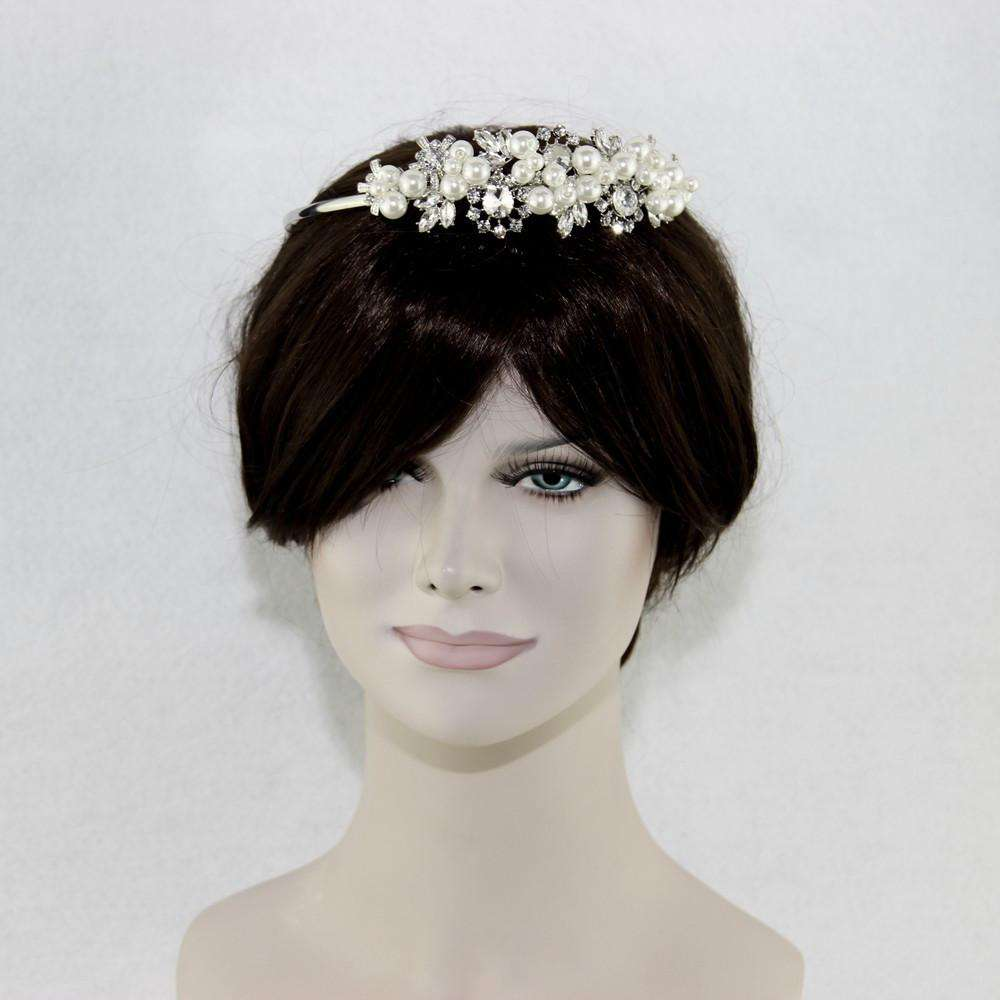 Pearl Crystal Bridal Wedding Headband Hair Jewelry