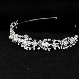 Rhinestone Crystal Flower Wedding Bridal Headband