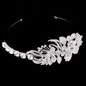 Crytsal Leaves Wedding Bridal Tiara Headpieces