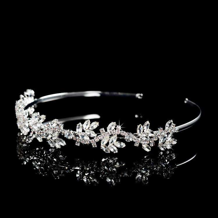 Crystal Floral Wedding Bridal Tiara Headband