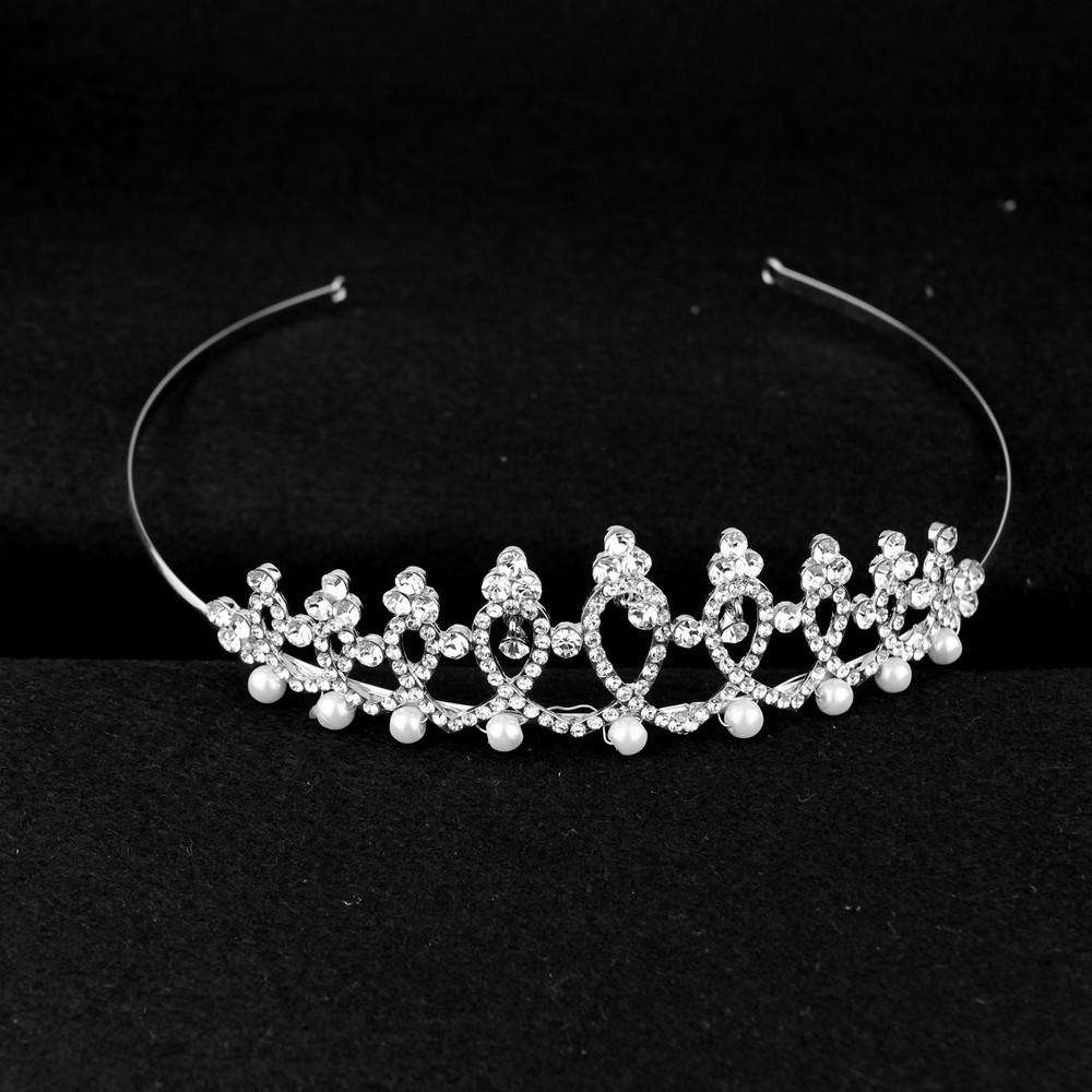Crystal And Pearl Wedding Headband Bridal Tiara