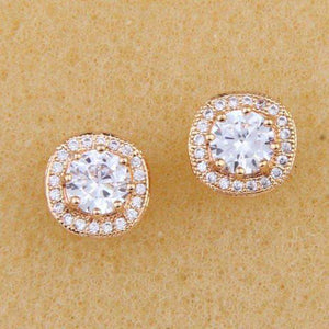 Clear Cubic Zirconia Studs Earrings