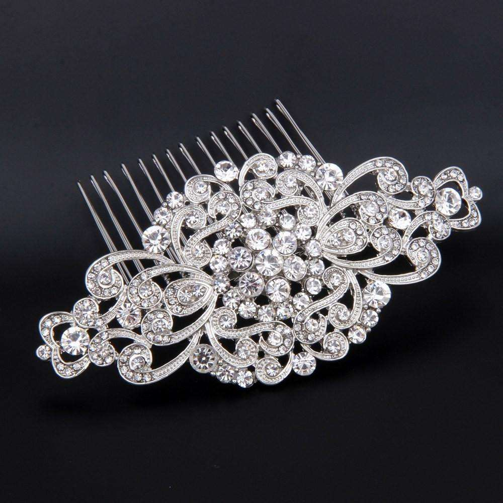 Rhinestone Bridal Hair Comb Art Deco Wedding