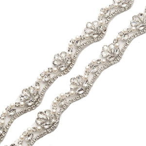 "Skinny Wedding Belt Crystal Bridal Sash Accessories - ""Ashley"""