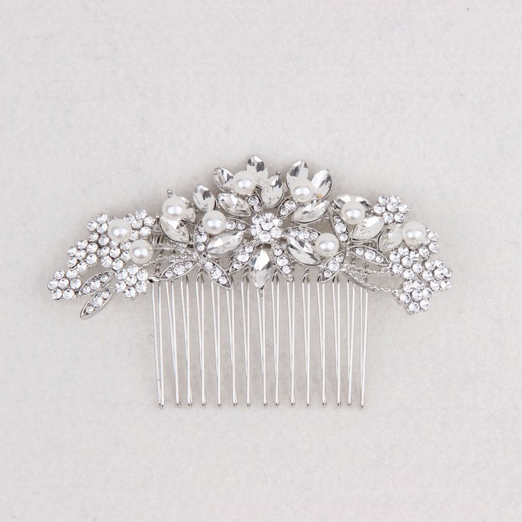 Vintage Bridal Hair Accessories Wedding Hair Comb Silver hair piece