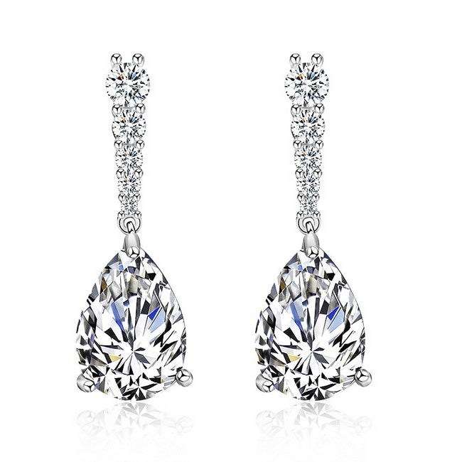 "Bridesmaid Jewelry Crystal Drop Earrings - ""Nelson"""