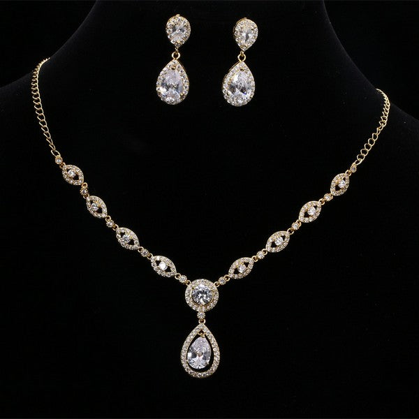 "Teardrop Wedding Jewelry Sets for Bride  - ""Annabel"""