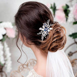 bridal hair comb something blue wedding hair piece - Amanda