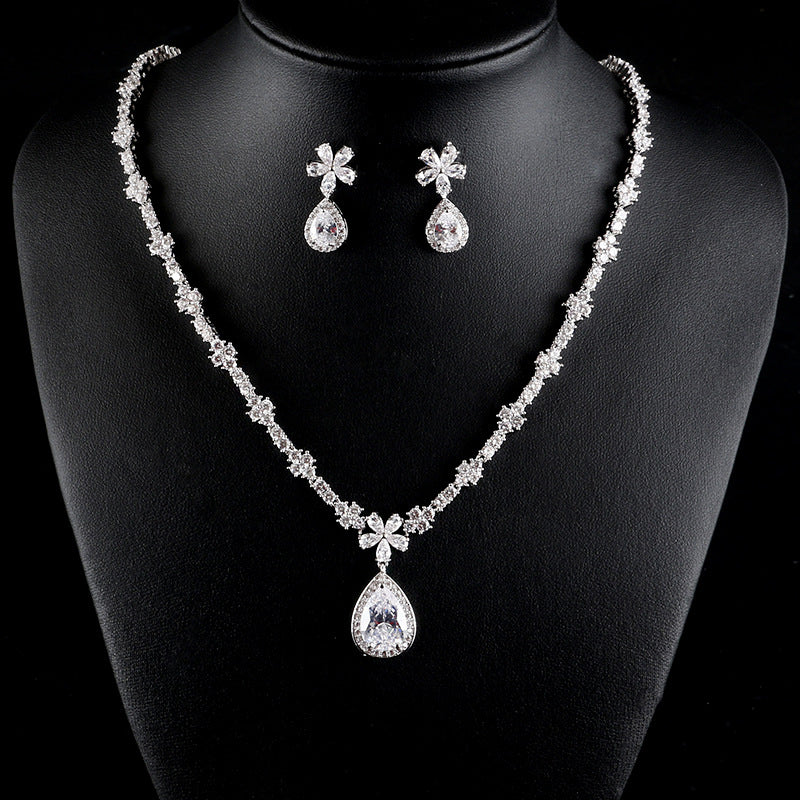 bridal jewelry set teardrop bridesmaid gift Angela