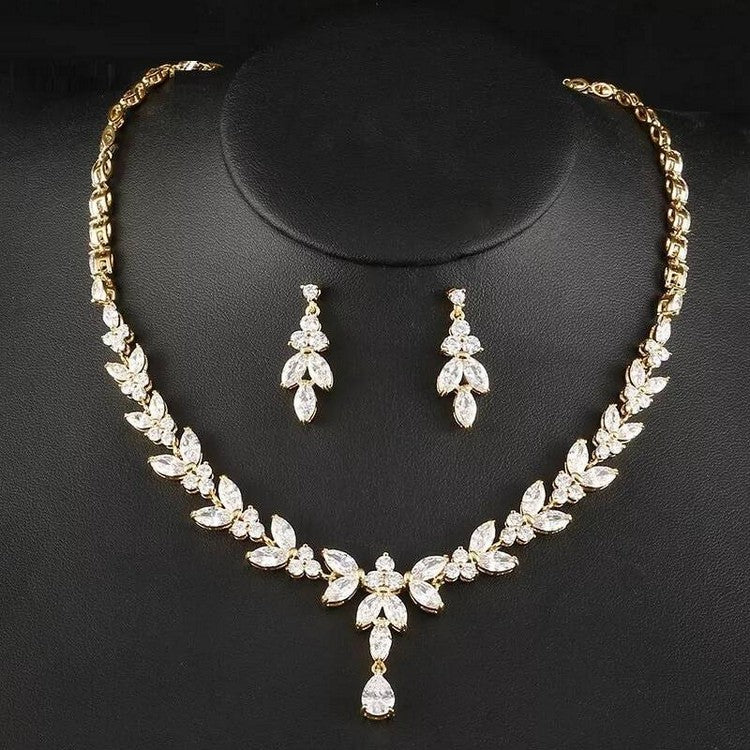 Bridal Jewelry Sets For Bride Gold, Rose Gold, Silver