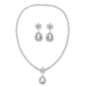 cz wedding jewelry sets necklace & earrings Eveline