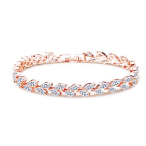 rose gold wedding bracelet for bridesmaids gift