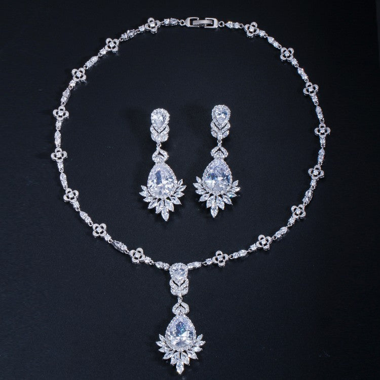 silver celebrity bridal jewelry set Tracey