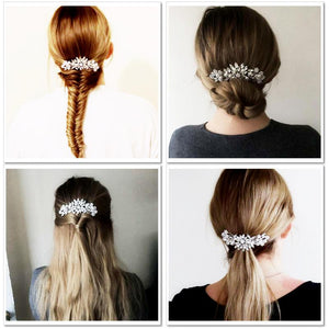 vintage wedding hair piece crystal pearl bridal hair comb wedding hairstyles accessories