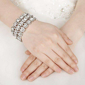 Luxury Crystal  Statement Wedding Bracelet