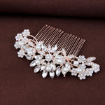 wedding hair accessories rose gold bridal hair comb pearl crystal