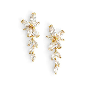 yellow gold bridal hair piece earrings bridesmaids gifts sets