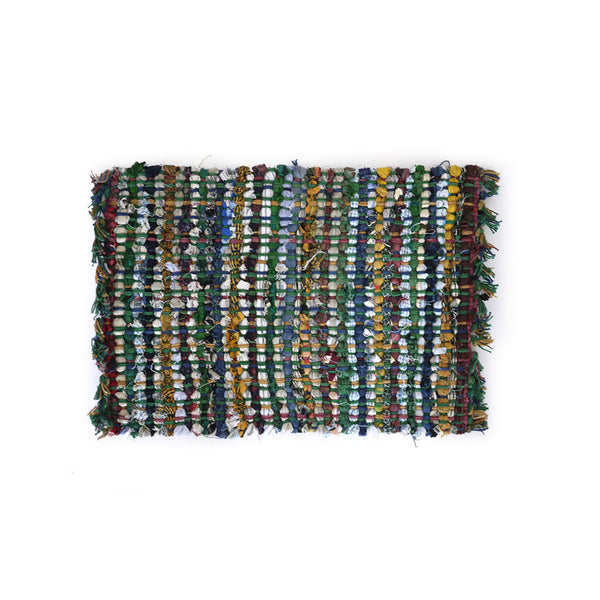 Set of 4 Boho Rag-Rug Table Mats