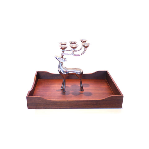 Chrome Deer Candleholder