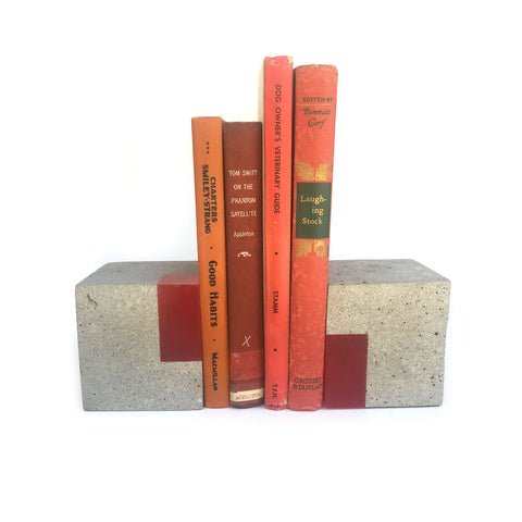 "Love & Quarry ""Cube"" Bookends"