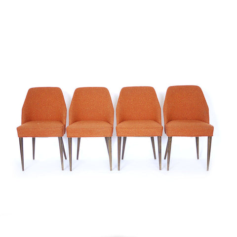 Mid Century Upholstered Dining Chairs