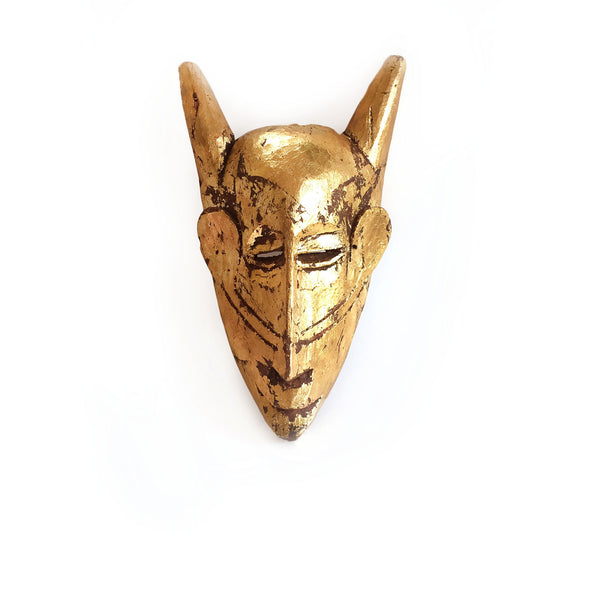 Vintage Gold Wood Mask