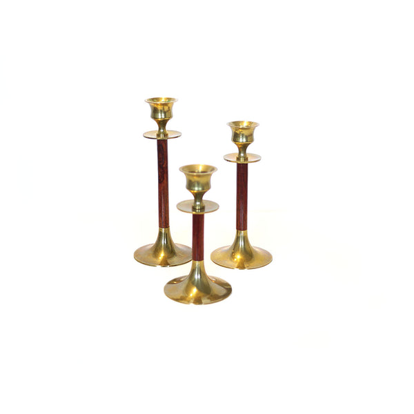 Mid Century Candle Holder Set