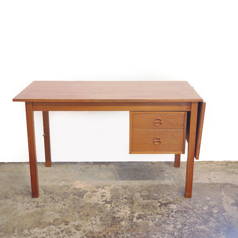 Danish Modern Drop-Leaf Desk