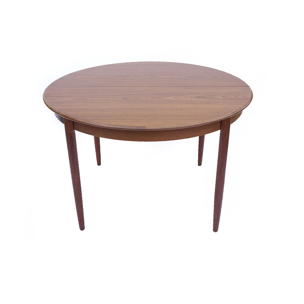 Round Danish Modern Dining Table W Leaves NowShopLA - Round dining table with 2 leaves