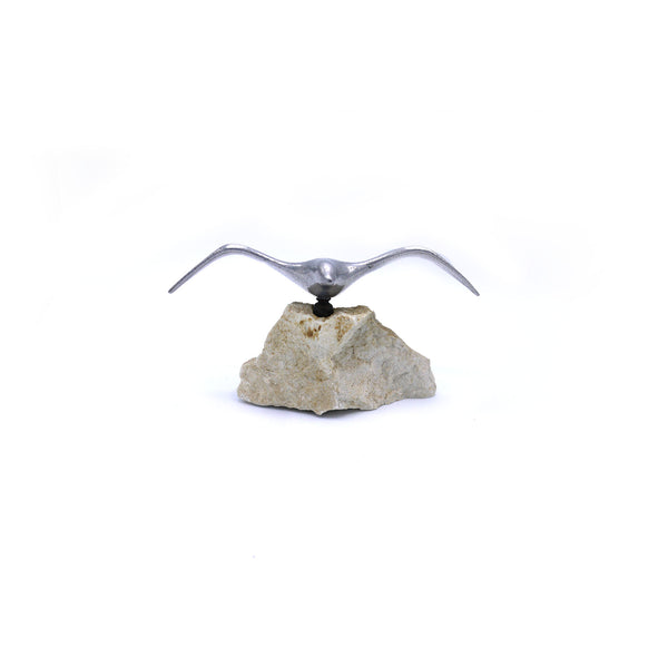 Mid Century Pewter Flying Bird