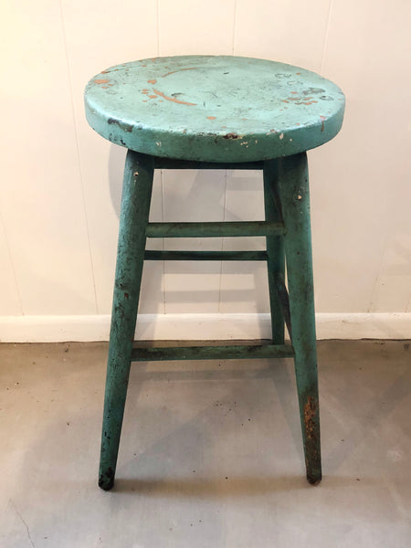 Vintage Wood Farmhouse Stool