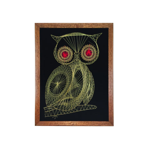 Retro Gold Owl String Art