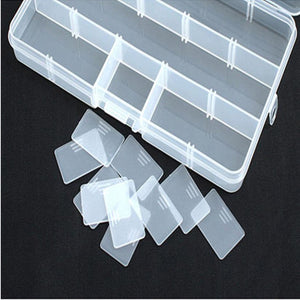 Plastic Fishing Tackle Box - 15 Compartments