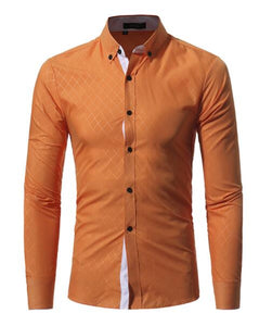 Cross Pattern Smart Casual Shirt