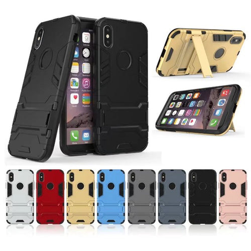Armoured iPhone Case with Stand - iPhone 5 to X
