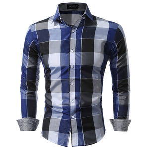 Casual Plaid Buttoned Shirt
