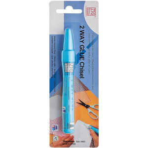Zig Memory System 2-Way Glue Chisel by Kuretake-Zig-Stamping With Sue